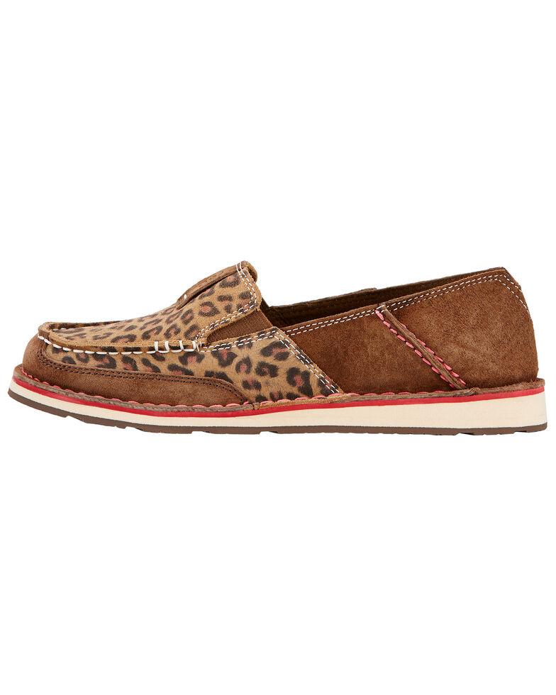 Ariat Women's Leopard Print Cruiser Shoes , Earth, hi-res