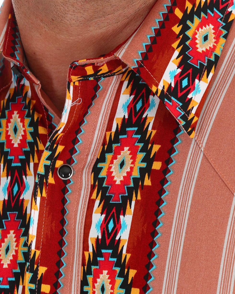Wrangler Men's Checotah Long Sleeve Western Shirt , Brown, hi-res
