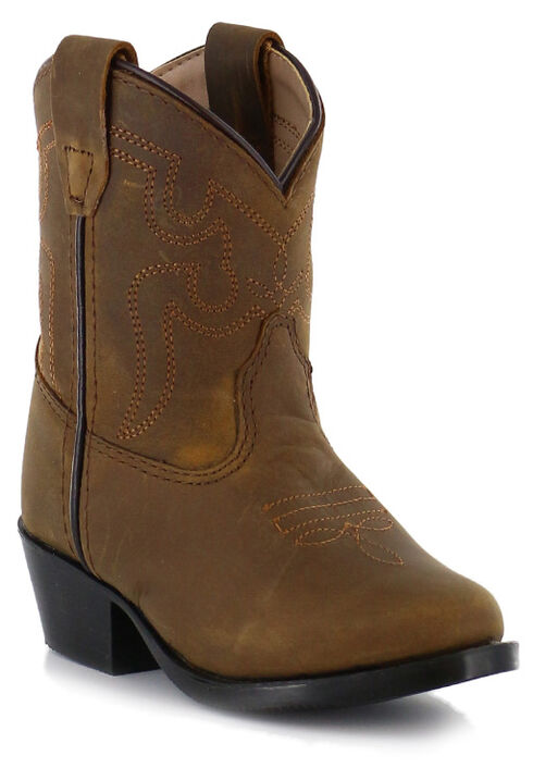 Cody James Toddler Western Boots - Round Toe, Brown, hi-res