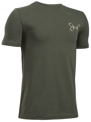 Under Armour Boy's Green Big Mouth Strike T-Shirt , Green, hi-res