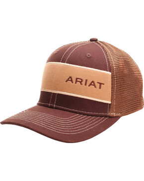 Ariat Men's Brown Word Mark Mesh Baseball Cap , Brown, hi-res