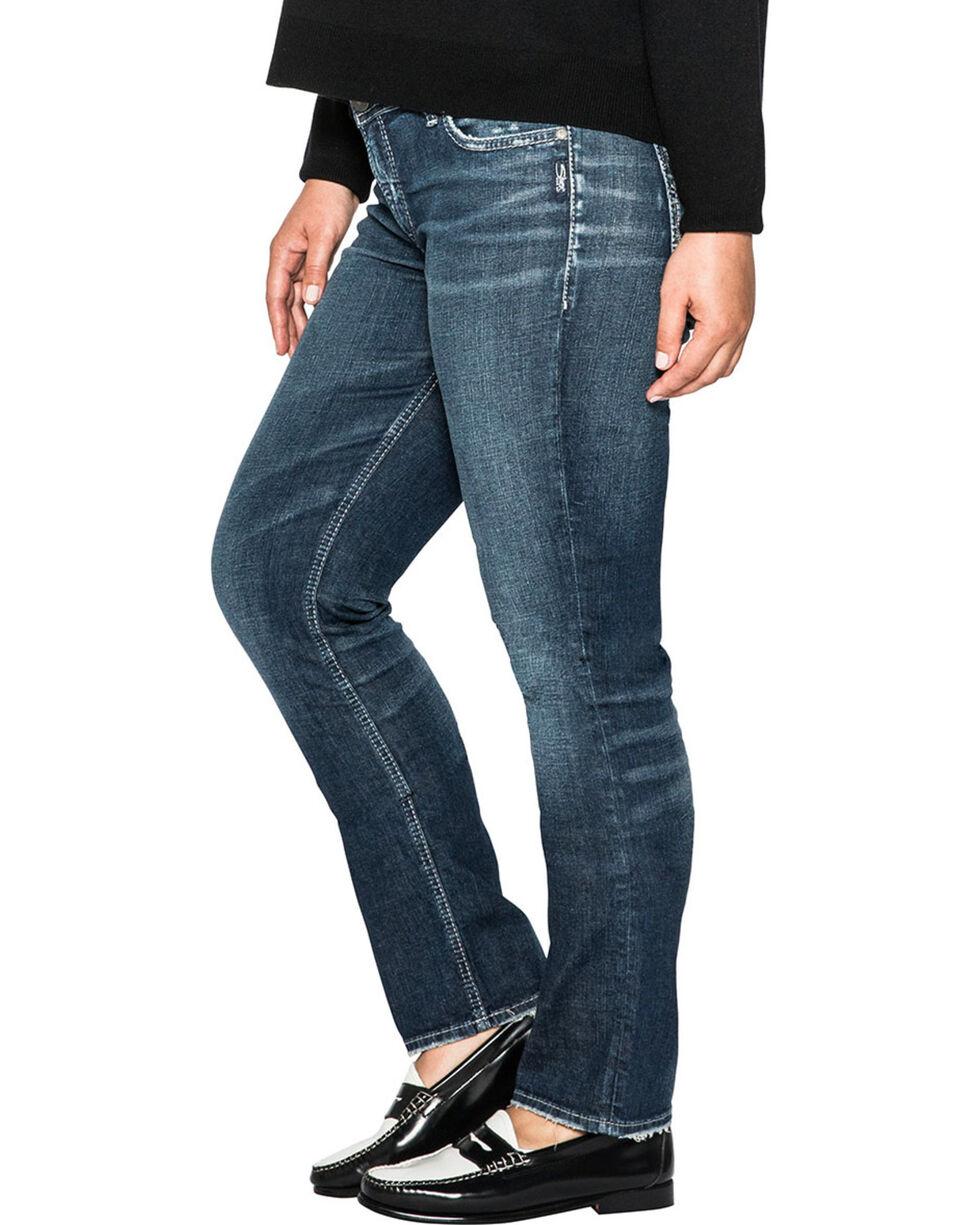 Silver Women's Elyse Dark Wash Straight Jeans - Plus Size , Indigo, hi-res