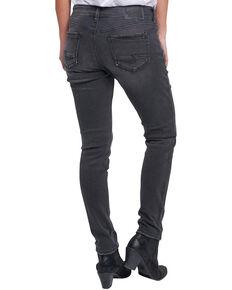 Silver Women's Kenni Color Wash Girlfriend Jeans, Indigo, hi-res