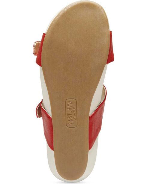 Eastland Women's Red Cape Ann Buckle Slide Sandals , Red, hi-res