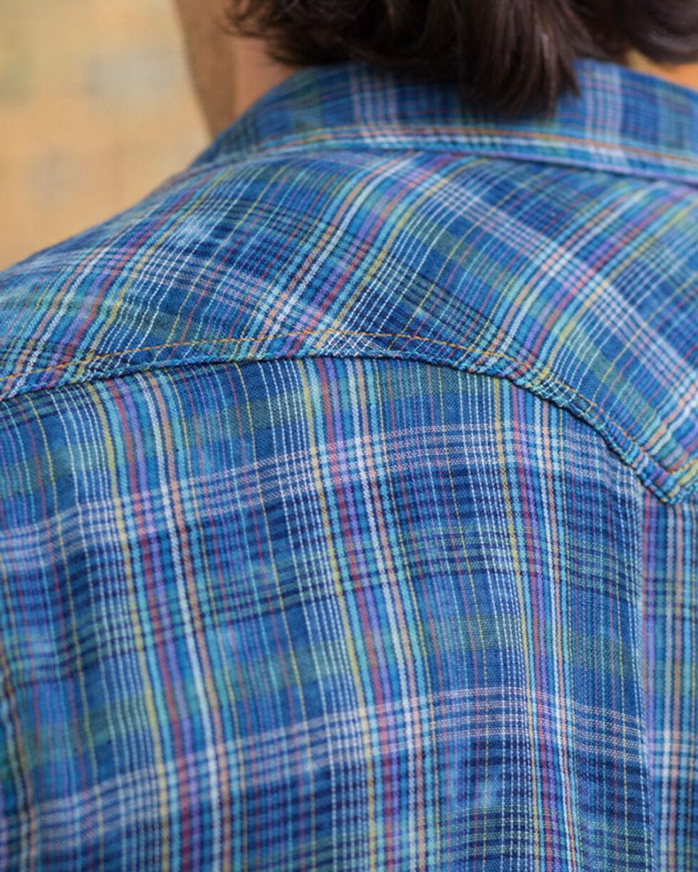 Ryan Michael Men's Fiesta Double Face Plaid Shirt , Indigo, hi-res
