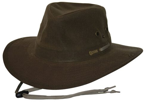 Outback Trading Co. Oilskin River Guide Hat, Brown, hi-res