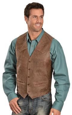 Scully Western Lamb Vest, Brown, hi-res