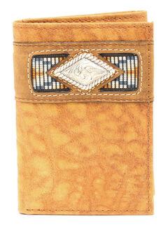 Ariat Trifold Gator Ribbon Wallet, Natural, hi-res