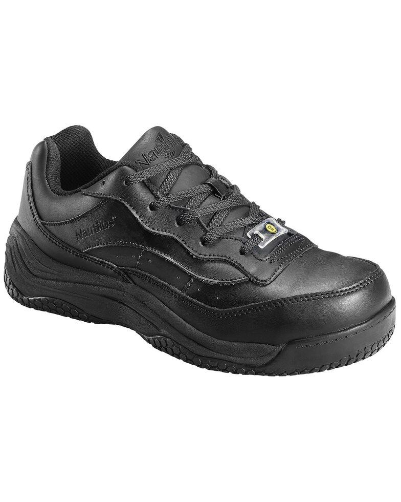 Nautilus Women's Black Ego Slip-Resistant Work Shoes - Composite Toe , Black, hi-res