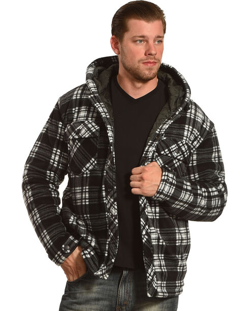 China Leather Men's Quilt-Lined Plaid Shirt Jac , , hi-res
