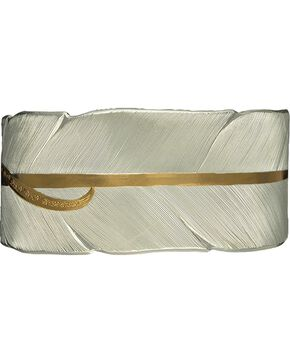 Montana Silversmiths Two-Tone Feather Bracelet, Silver, hi-res