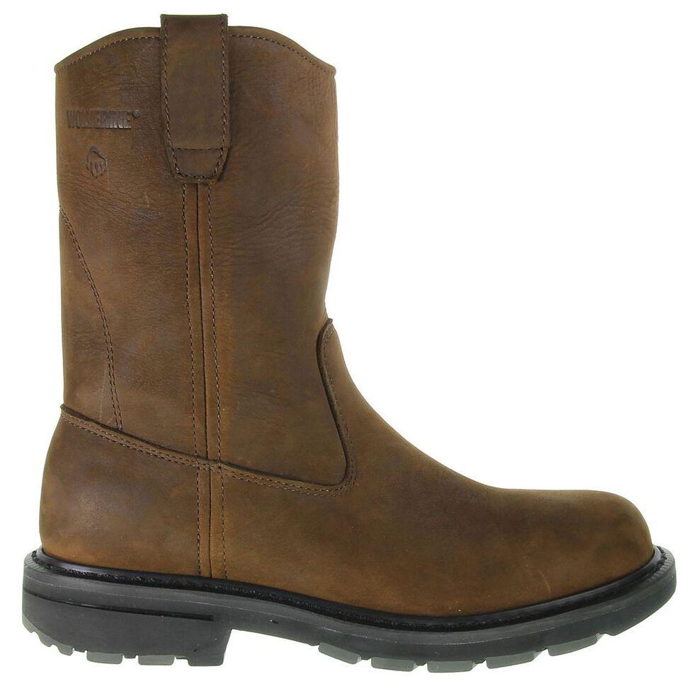 Wolverine Nubuck Wellington Pull-On Work Boots - Steel Toe, Brown, hi-res