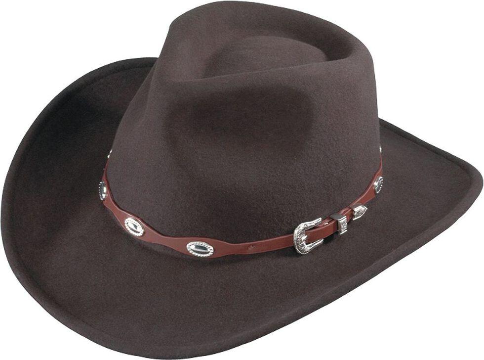 Henschel Wool Felt Cowboy Hat, Brown, hi-res