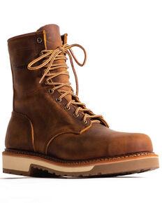 """Silverado Men's Tan 8"""" Lace-Up Work Boots - Soft Toe, Tan, hi-res"""