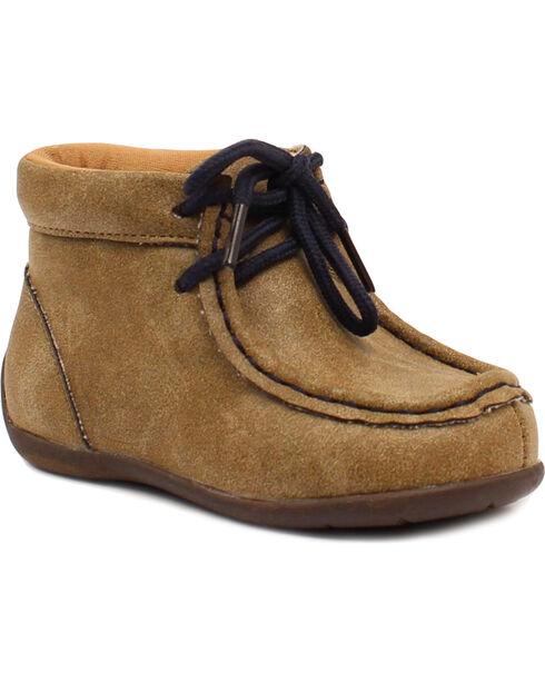 Double Barrel Boys' Smith Casual Shoes - Moc Toe, Brown, hi-res