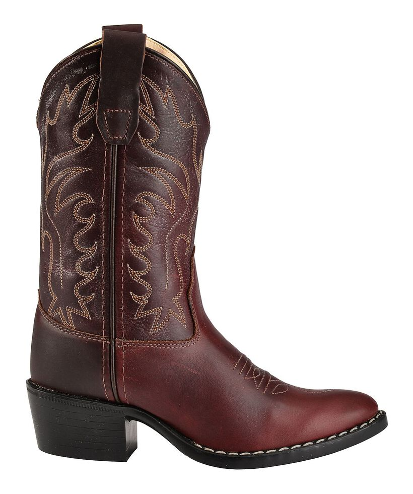 Old West Boys' Oiled Western Cowboy Boots - Pointed Toe, Oiled Rust, hi-res