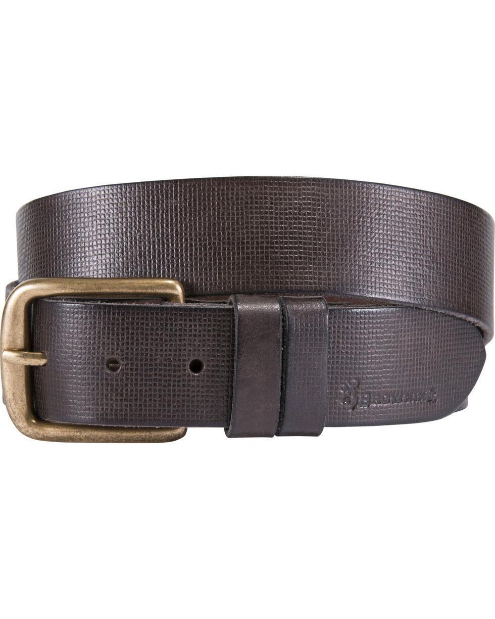 Browning Men's Dark Brown Milo Leather Belt , Dark Brown, hi-res