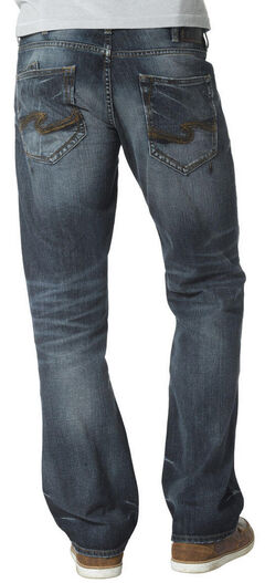 Silver Jeans Men's Zac Relaxed Fit Straight Leg Medium Wash Jeans, Denim, hi-res