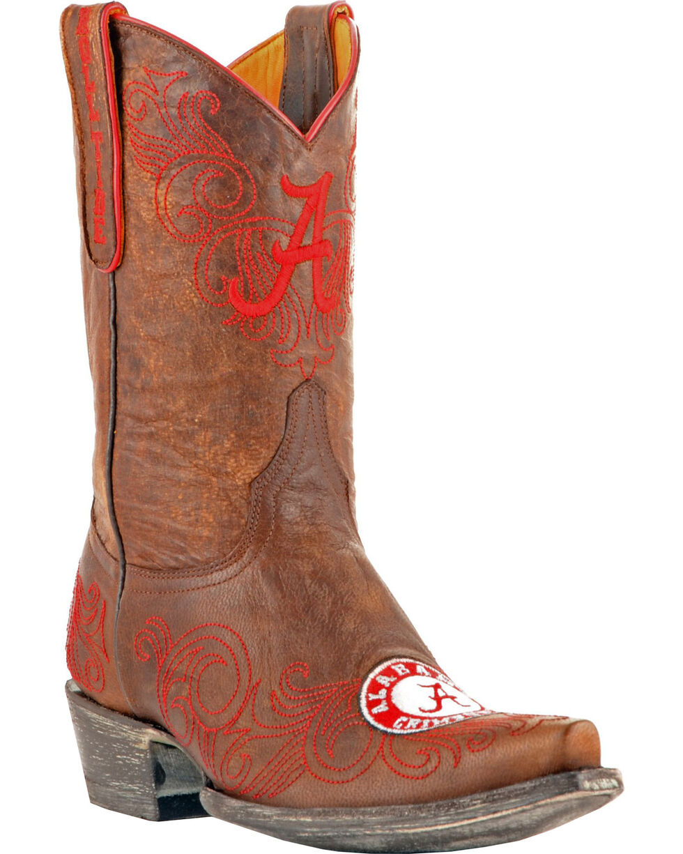 Gameday Boots Women's University of Alabama Western Boots - Snip Toe, Brass, hi-res