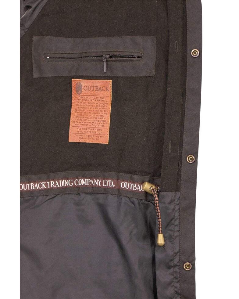 Outback Trading Co. Men's Short Oilskin Duster, Brown, hi-res