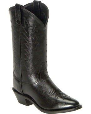 Old West Corona Cowgirl Boots - Medium Toe, Black, hi-res