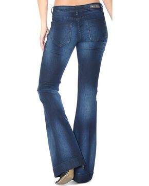 Grace in LA Women's Simple Flare Trousers , Indigo, hi-res