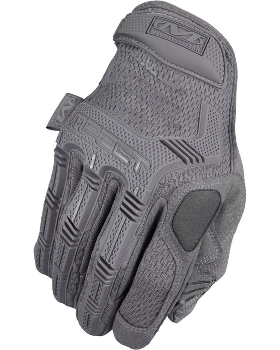 Mechanix Wear M-Pact Wolf Grey Gloves , Grey, hi-res