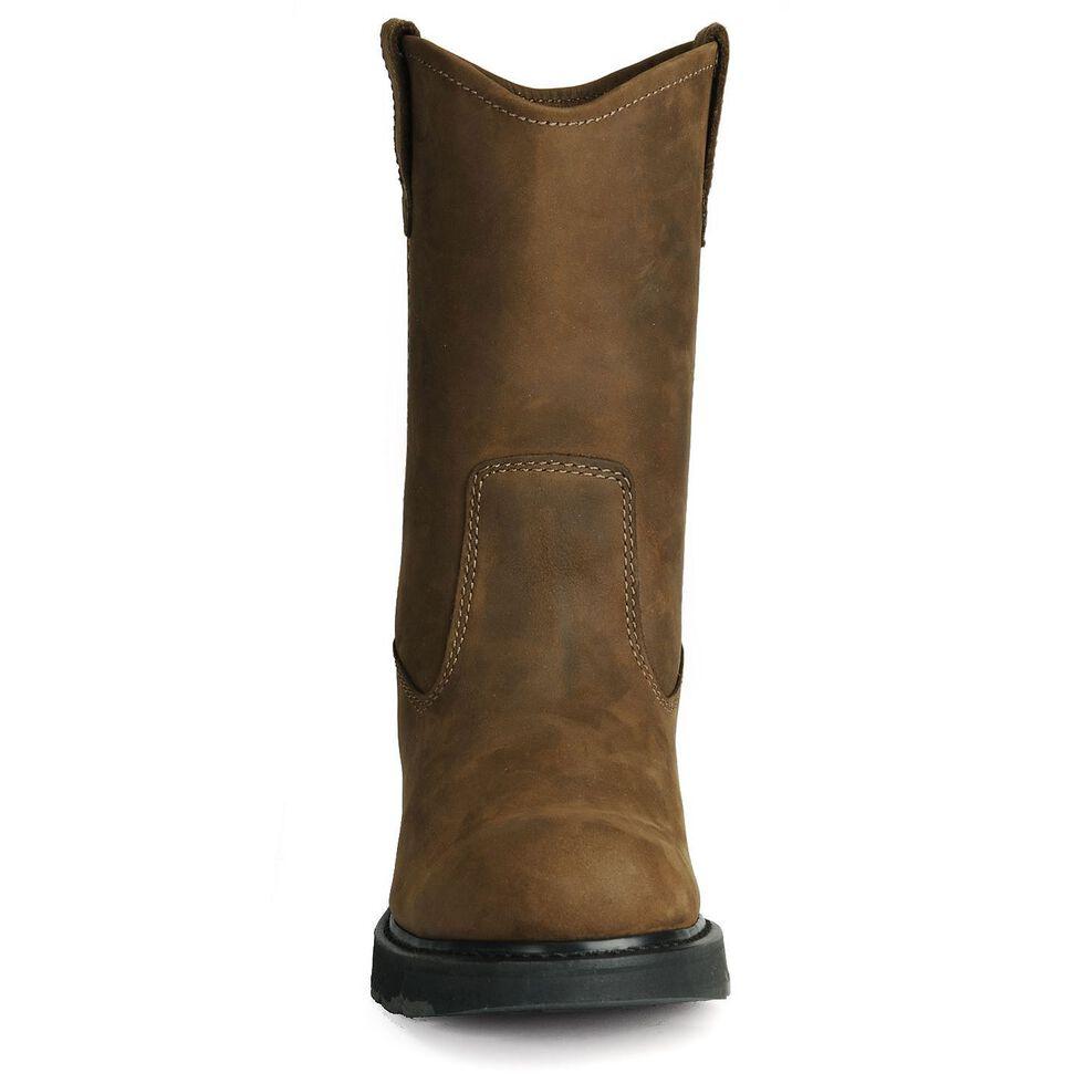 Wolverine Nubuck Wellington Pull-On Work Boots - Round Toe, Brown, hi-res