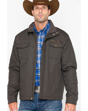 Cinch Men's Canvas Herringbone Jacket, Brown, hi-res
