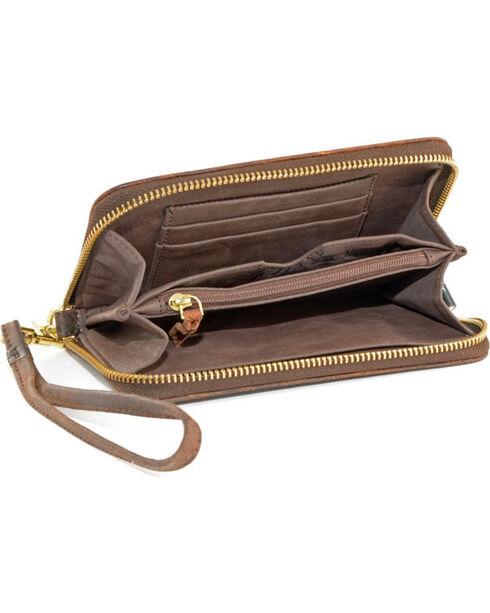 Gameday Boots University of Kansas Leather Wristlet, Brass, hi-res