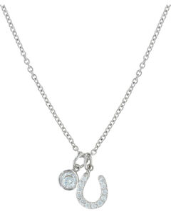 Montana Silversmiths Luck by Starlight Necklace, Silver, hi-res