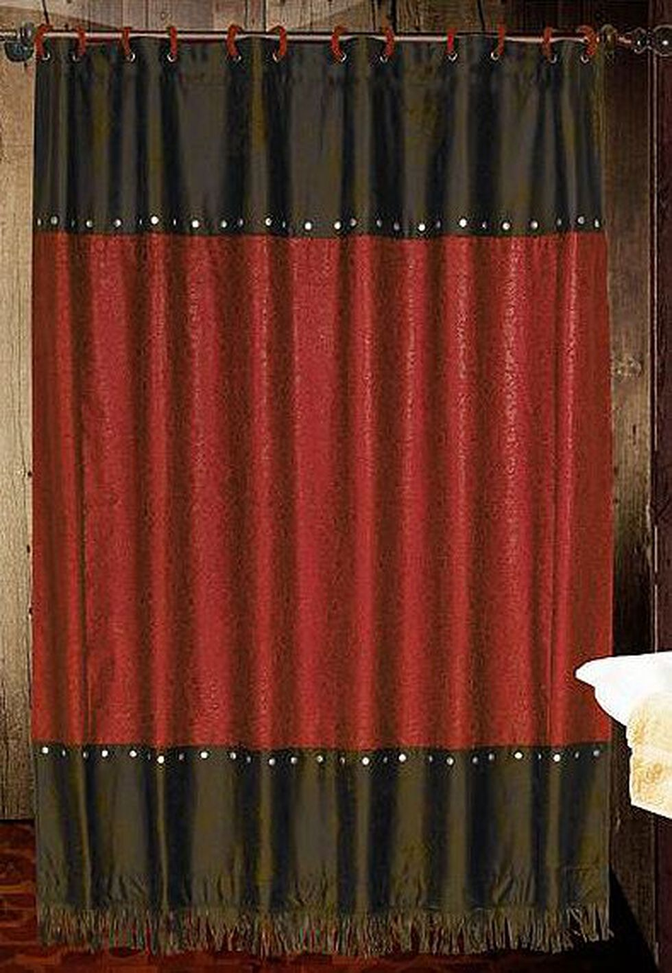 Cheyenne Red Shower Curtain, Multi, hi-res