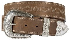 Ariat Fatbaby Distressed Leather Belt, Distressed, hi-res