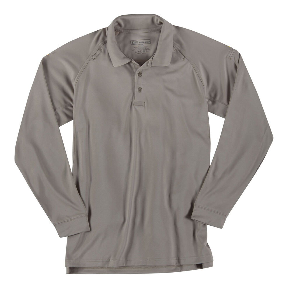 5.11 Tactical Performance Long Sleeve Polo, Tan, hi-res