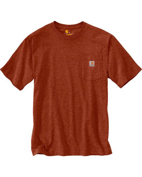 Carhartt Men's Sequoia Heather Workwear Pocket T-Shirt - Big, Brown, hi-res
