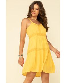 Five Star Women's Yellow Crochet Halter Dress, Yellow, hi-res