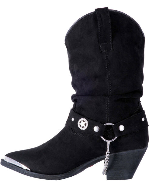 Dingo Women's Camilla Slouch Boots - Pointed Toe, Black, hi-res