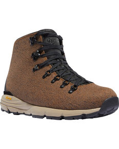 Danner Men's Brown Mountain 600 Enduroweave Hiking Boots - Round Toe, Brown, hi-res