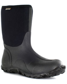 Bogs Men's Classic Insulated Waterproof Work Boots - Round Toe, Black, hi-res