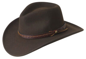 e3d03e93 Wind River by Bailey Firehole Brown Western Hat, Brown, hi-res