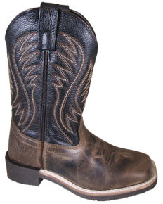 Smoky Mountain Youth Boys' Travis Western Boots - Square Toe, Brown, hi-res