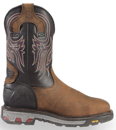 Justin JOW Men's Commander X5 Pull-On Work Boots - Steel Toe, Timber, hi-res