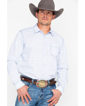 Gibson Trading Co. Men's Wildflower Geo Print Long Sleeve Western Shirt , Navy, hi-res