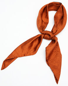 Cody James Women's Silk Jacquard Wild Rag Scarf, Rust Copper, hi-res