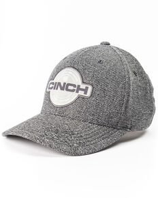 Cinch Men's Grey Flexfit Circle Patch Cap, Grey, hi-res