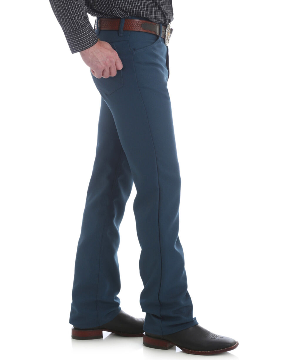 Wrangler Men's Regular Fit Dress Jeans - Tall , Teal, hi-res