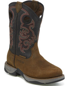 Tony Lama Men's Junction Brown Waterproof Western Work Boots - Steel Toe, Brown, hi-res