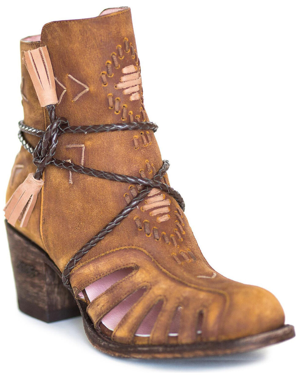 Miss Macie Women's Taupe Singing Willow Boots - Round Toe , Taupe, hi-res