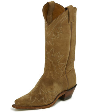 Tony Lama Women's Vernita Western Boots - Snip Toe, Tan, hi-res
