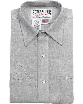 Schaefer Outfitter Men's Graphite Vintage Chisholm Chambray Shirt, Light Grey, hi-res